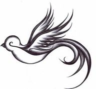 Sparrows symbolize love, dedication and trust. Sparrows mate for life and will always return home no matter how far they travel. They should always be tattooed in pairs. I have a pair tattooed on my ribs for Aaron and myself