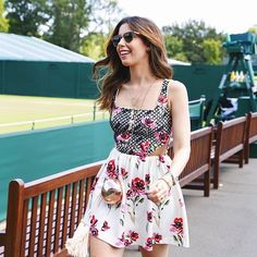 #wimbledon • DAY 01  Vestido @patbo_oficial + clutch @isla_oficial #wimbledon2015 #HeresToPerfection | Ph: @felipepanfili