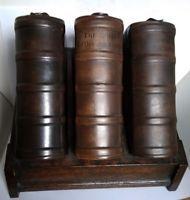 Super rare Doulton Lambeth complete Book flask set! Antique Pottery, Flask, Antiques, Book, Antiquities, Antique, Livres, Books, Libros