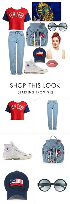 """""""I got my own style"""" by hidong18 ❤ liked on Polyvore featuring Chocoolate, Topshop, Converse, Tom Ford and Lime Crime"""