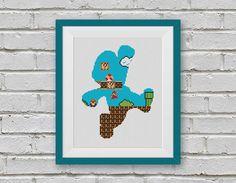 BOGO FREE Super Mario Cross Stitch Pattern Retro Video Game