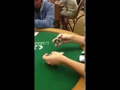 """Coolest poker chip trick, seen during the world series of poker."""