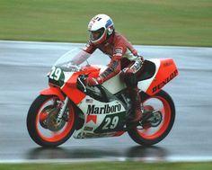 Wayne Rainey 1984 250cc British GP - photo by Graham Etheridge