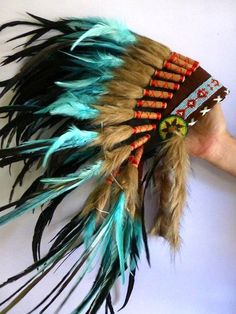 For Children: Indian Turquoise Feather Headdress