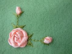 how to make a ribbon embroidery rose on felt