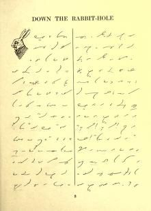 Alice in Wonderland in shorthand. I want to learn this