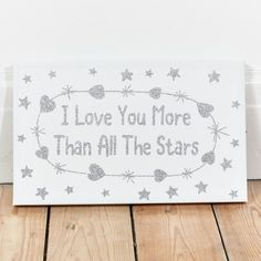 I Love You More Than... Light Up Canvas