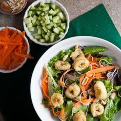 Asian Calamari Salad HealthyAperture.com