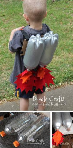 Super Sci-Fi Rocket Fueled Jet Pack--Upcycled Craft DIY I love upcycled crafts. Projects For Kids, Diy For Kids, Crafts For Kids, Diy Projects, Space Theme, Space Party, Crafty Kids, Upcycled Crafts, Summer Fun