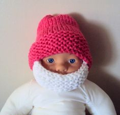 Beard Hat Baby Beanie Baby Hat Knit Hat Face Mask Beanie New Born Baby Toddler Accessories Gift Ideas Under 50 Photography Prop 0-18 Months by GrahamsBazaar, $30.00