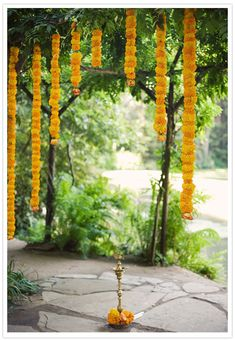marigold garlands as a nod to my Nepali roots Engagement Decorations, Indian Wedding Decorations, Ceremony Decorations, Flower Decorations, Decor Wedding, Diy Wedding, Marigold Wedding, Floral Wedding, Wedding Flowers