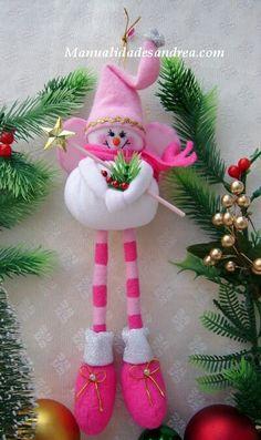 muñecos de navidad moldes - Buscar con Google Christmas Makes, Pink Christmas, Christmas Colors, Christmas Snowman, All Things Christmas, Christmas Ornaments, Christmas Arts And Crafts, Handmade Christmas, Holiday Crafts