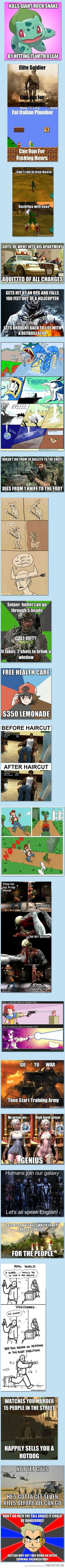 Funny pictures about Video Game Logic. Oh, and cool pics about Video Game Logic. Also, Video Game Logic photos. Video Game Logic, Video Games Funny, Funny Games, Gamer Humor, Gaming Memes, King's Quest, Film Manga, Pokemon, Funny Comics