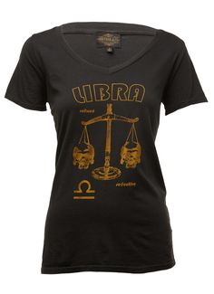 Sheehan & Co. Womens #Libra Zodiac Tee