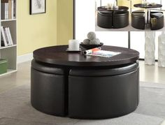 4020 Crown Mark Bloom Lift Cocktail Table with 4 Storage Ottomans - Coming Soon @ http://www.furnitureurban.com