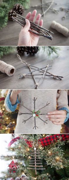 Cool Last-Minute Christmas Decorations You Can Make Yourself – LazyTries Christmas Love, Homemade Christmas, Rustic Christmas, All Things Christmas, Christmas Holidays, Christmas Ornaments, Last Minute Christmas Gifts Diy, Amazon Christmas, Christmas Carol