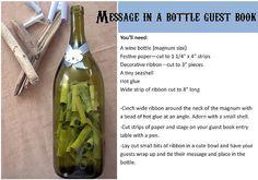 Wedding DIY: Message in a Bottle Guest Book