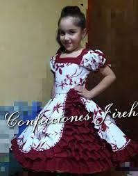 Resultado de imagen para vestidos de huasa modernos Pagent Dresses, Clogs Outfit, Dresses Kids Girl, Baby Decor, Kids Wear, Frocks, Kids Girls, Blouse Designs, Costumes