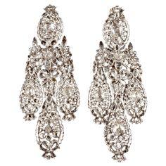 Important Diamond Girandole Earrings | From a unique collection of vintage chandelier earrings at http://www.1stdibs.com/jewelry/earrings/chandelier-earrings/