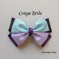 corpse bride hair bow by abowtiqueshop on Etsy