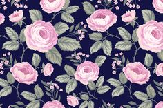 set of seamless patterns with roses by citradora on Creative Market