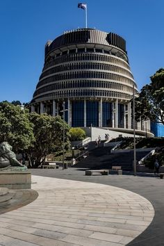"""'""""The Beehive"""" the centre of New Zealand's political hub' by billmcphail New Zealand, Centre, Politics, Community, Mansions, World, House Styles, Photography, Inspiration"""