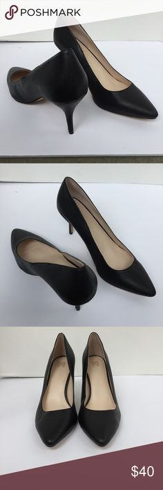 """Victoria's Secret Black Leather Heels NEW 9 Shoes Brand new without box Size 9.5 Leather Approx 3"""" heel Victoria's Secret Shoes Heels"""