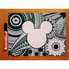 Imagen de drawing, art, and mickey