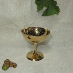 Taza de cobre amarillo de cobre cáliz - Vintage
