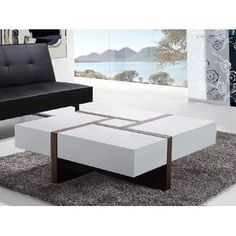 Modern Coffee Tables black walnut rectilinear coffee tableenrico konig (wood coffee