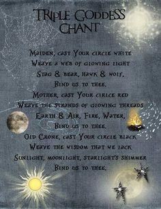 Triple goddess chant