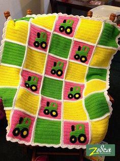 John Deere Tractor Baby Blanket