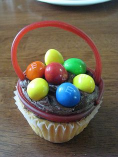Easter Egg Cupcakes - maybe smarties instead?