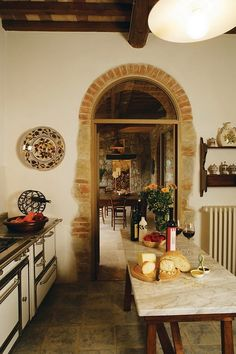 Tuscan kitchen. Can I please please have this (especially in Tuscany, but let's be real)