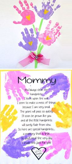 printable mother & day poem Easy Mothers Day Crafts for Toddlers t . Hand printable mother 's day poem Easy Mothers Day Crafts for Toddlers t .,Hand printable mother 's day poem Easy Mother. Easy Mothers Day Crafts For Toddlers, Kids Crafts, Easy Mother's Day Crafts, Daycare Crafts, Crafts For Kids To Make, Baby Crafts, Kids Diy, Mothers Day Crafts Preschool, Ideas For Mothers Day
