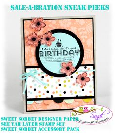 Sale-a-bration sneak peek and Mojo329 by SandiMac - Cards and Paper Crafts at Splitcoaststampers
