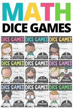 These math dice games allow students to practice math in a fun and engaging way. All games have a printable and digital option. Once taught, these games can be played independently while kids practice the skills taught.