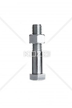 bolt with nut - A bolt with a nut isolated on a white background