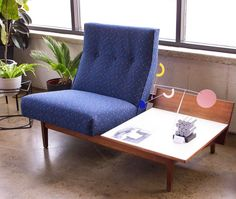 AMAZING pair: Jens Risom Lounge/Coffee Table and new arrival, La Lunatique stabile from Volta, Paris. Forage Modern Workshop