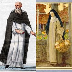 """Monks and nuns would dress in garments that would resemeble the poor, wishing to be considered as """"worldly"""", wearing long tunics and head dresses. Early Middle Ages, Christian Church, Priest, Headdress, Long Tunics, Head Coverings, Period, Portraits, Painting"""