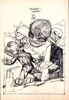 Original Comic Art:Cover, Gil Kane Amazing Spider-Man #181 Cover Mockup (1978) #181Cover Original A Image #1