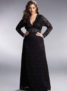 e1308d635d95 Plus Size Dresses, black lace dress, with vintage hair and makeup. So cute
