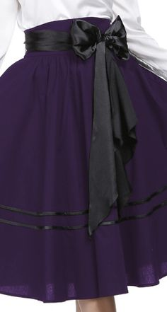1950s Retro Circle Skirt with trim Chic Star design by Amber Middaugh