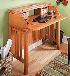 Notebook Computer Desk Woodworking Plan