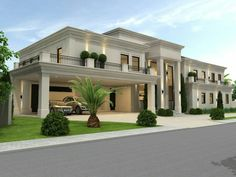 modern home design exterior Classic House Exterior, Classic House Design, Modern Exterior House Designs, Duplex House Design, Dream Home Design, Modern House Design, Flat Design, House Outside Design, House Front Design