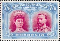 British South Africa Company, 11.11.1910, King George V., No.121, 7Sh 6P blue/red. Stamped 878 USD. Unused 878 USD.