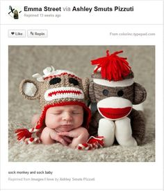 Sock Baby and Sock Monkey