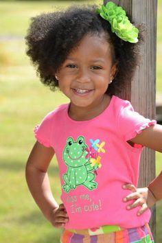 Sassy natural hair little girl portraits