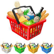 Buy Shopping basket with foods. by Dvarg on GraphicRiver. Shopping basket with foods. Realistic illustration for design Basket Sport, Food Clipart, Clipart Design, Vector Free Download, Food Illustrations, Plastic Laundry Basket, Courses, Food Lists, Fruits And Vegetables