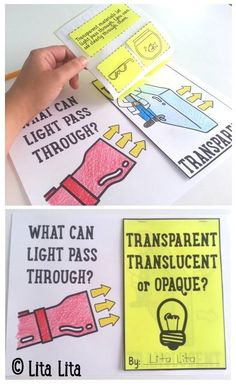 Transparent, translucent or opaque foldable